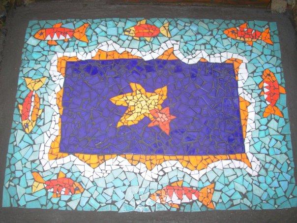 Как сделать мозаику из гипса 152