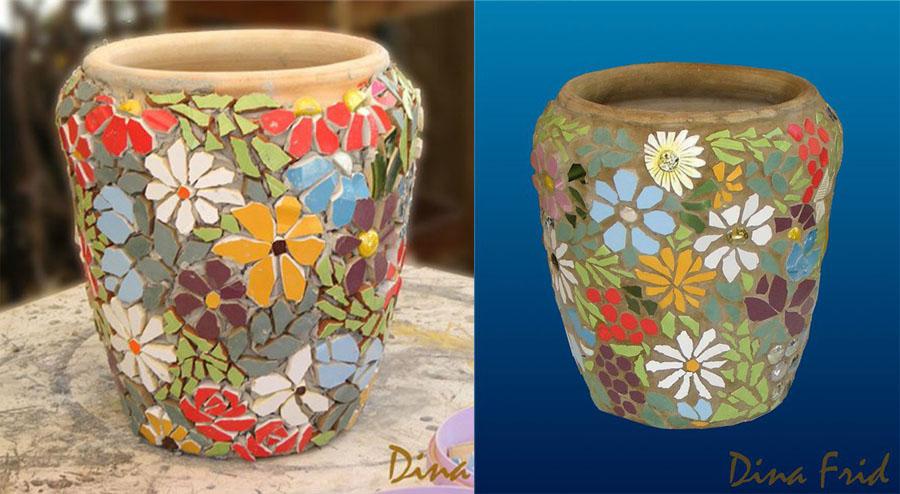 Цветы вязаные крючком в горшках, берет спицами фото.